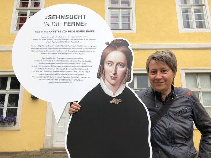 Annette von Droste-Hülshoff, Monika Gemmer (von links).